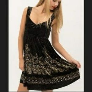 Free People Crushed Velvet Sequin Dress